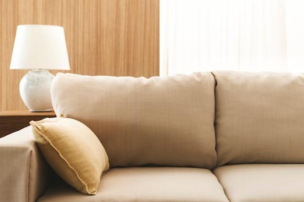 Coussin de canapé de salon, design intérieur minimal