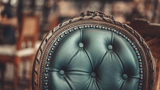 Coussin vintage en cuir