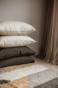 Coussins textiles de maison collection de luxe en coton éco-tissu