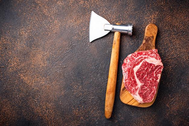 Couteau à steak de ribeye et à boucher