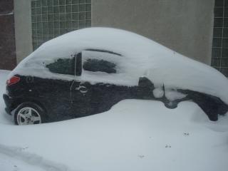 Couvert de neige voiture