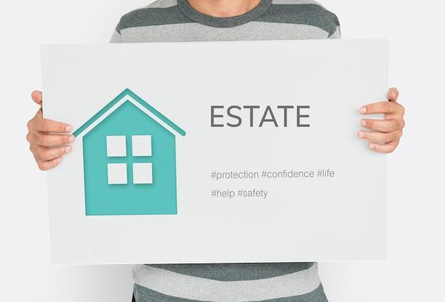 Couverture d'assurance habitation immobilier résidentiel