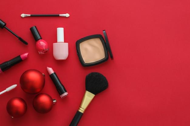 Couverture de blog de mode de marque cosmétique et concept glamour girly