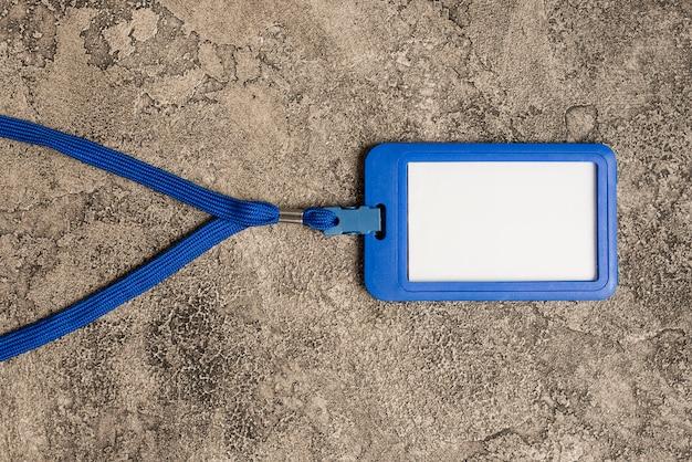 Couverture de carte de visite bleue