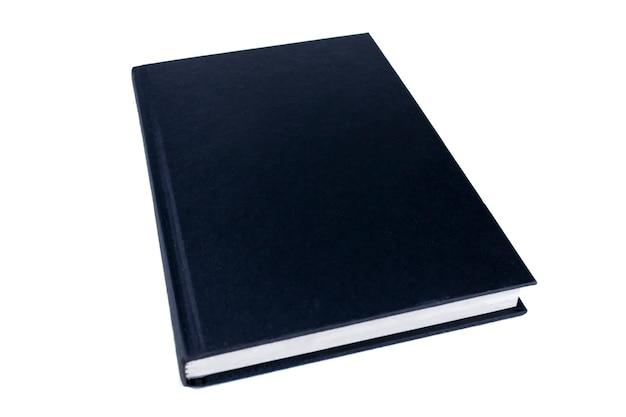 Couverture de livre noir, vue en perspective