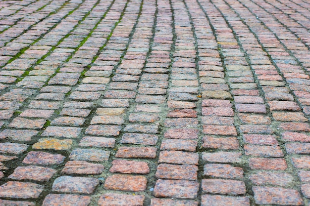 Couverture de route de granit. espace de construction. fermer