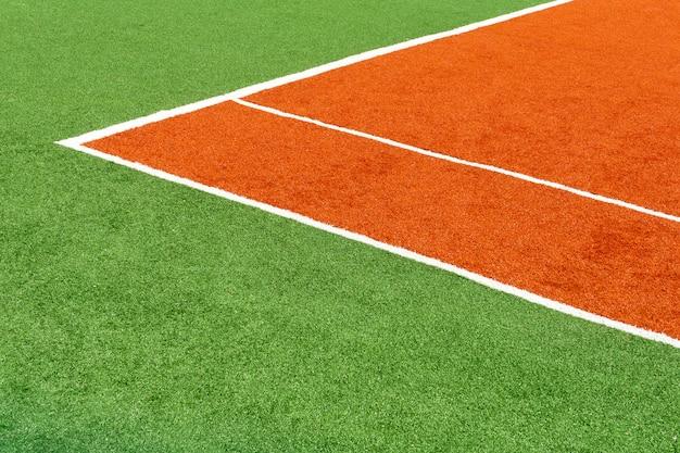 Couverture de tennis couleur terrain de sport.