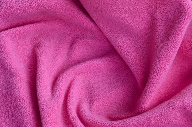 La couverture en tissu polaire rose à fourrure