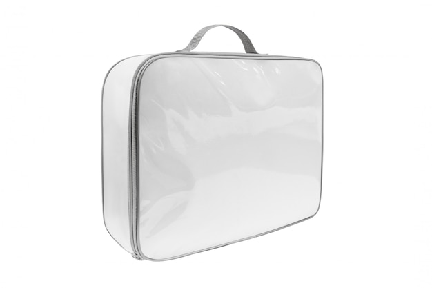 Couvre-lit emballé dans le sac en pvc, vue latérale