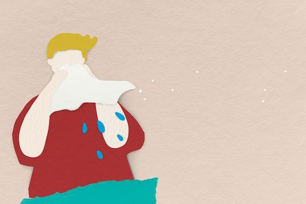 Couvrez votre toux pour empêcher la propagation de la bannière sociale covid-19