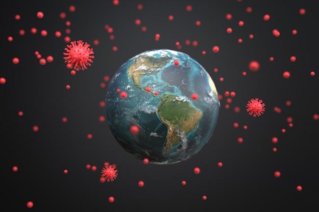 Covid-19 attaque le monde, pandémie de maladie à coronavirus.