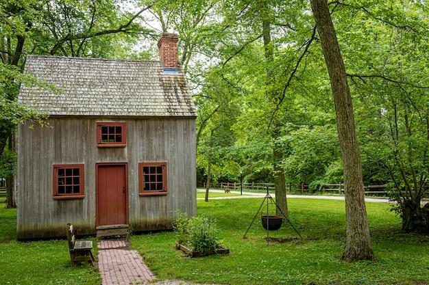 Coxe Hall Cottage - Le Plus Ancien Bâtiment Survivant Connu Dans Le Comté De Cape May, Nj, Usa Photo Premium