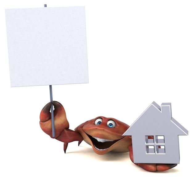 Crabe amusant - illustration 3d