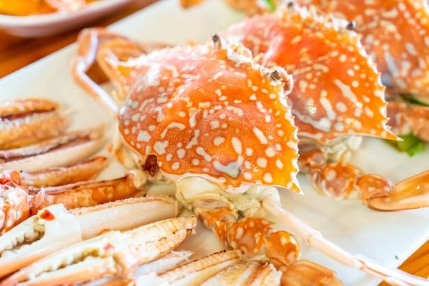 Crabe bleu cuit à la vapeur