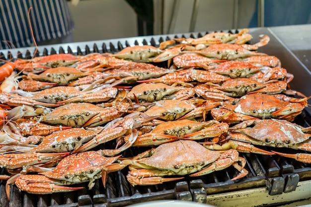 Crabe bleu grillé