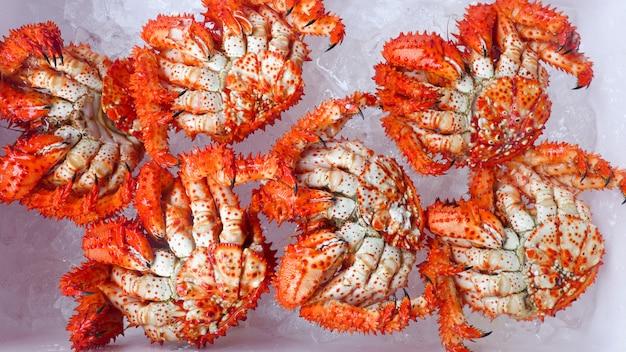 Crabes royaux dans la glacière