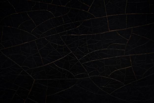 Crack texture de fond de mur noir.