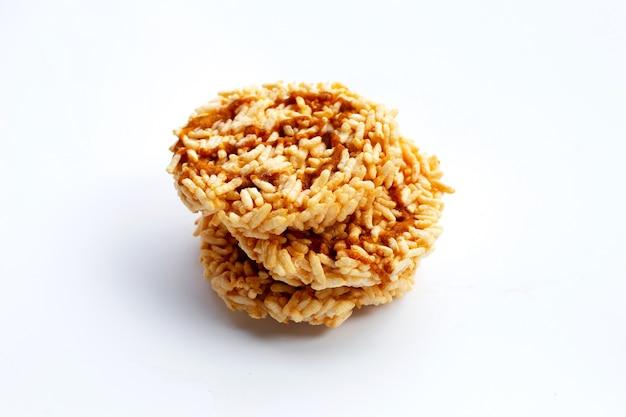 Cracker de riz au sirop de canne à sucre