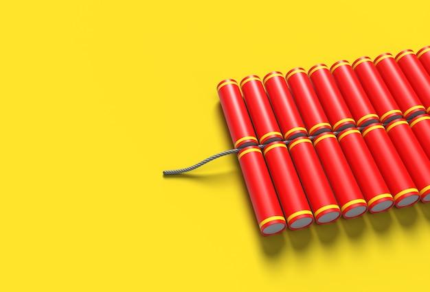 Crackers diwali 3d - outil stylo créé par chemin de détourage inclus dans jpeg facile à composer.