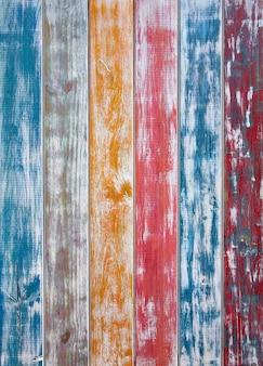 Craie de rayures colorées mexicaines en bois peint