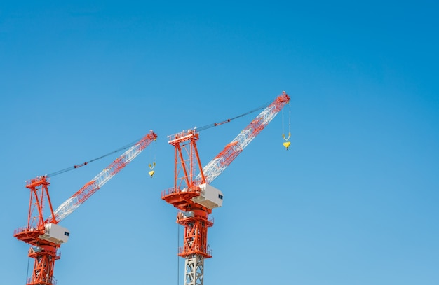 Crane et construction de chantier