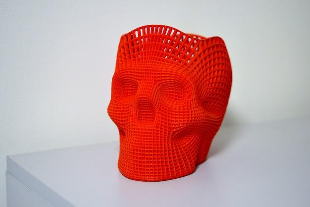 Crâne imprimé sur une imprimante 3d
