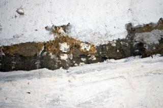 Craquage mur blanc