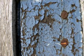 Craquage mur bleu