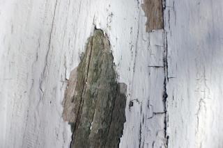 Craquage mur en bois