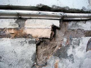Craquage surface du mur, la texture, le béton