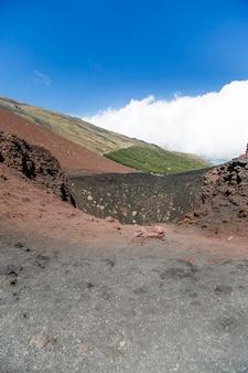 Crateri silvestri en sicile, italie