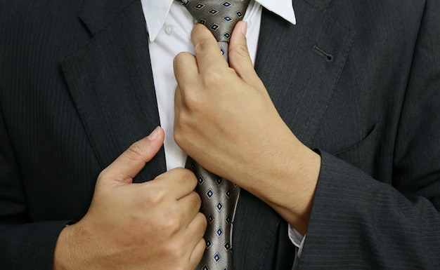 Cravate d'homme d'affaires