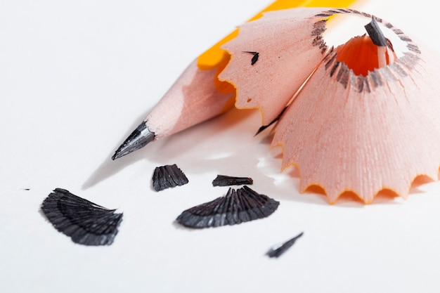 Crayon après affûtage