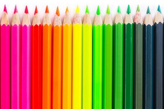 Crayon en bois coloré