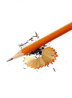 Crayon et copeaux