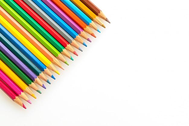 Crayon de couleur avec espace copie
