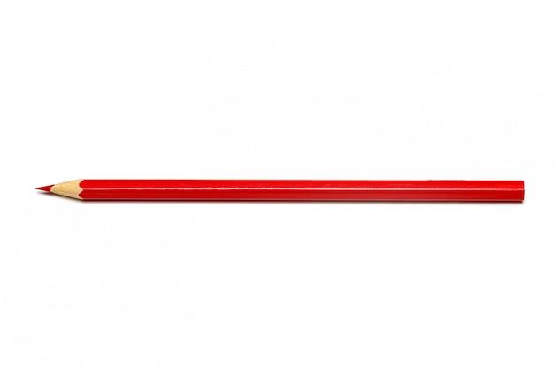 Crayon de couleur rouge