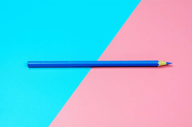 Crayon crayon bleu