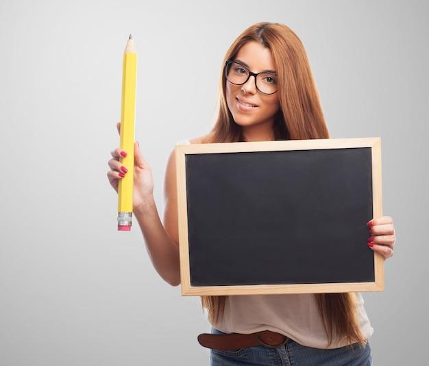 Crayon de l'enseignement des sciences de la leçon enseignant
