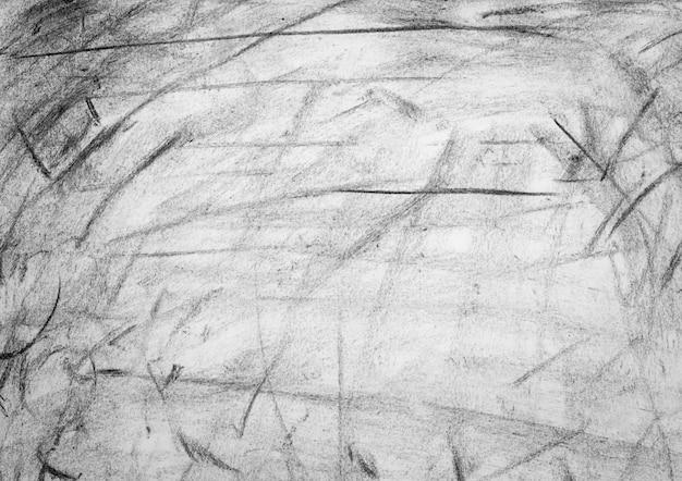 Crayon grunge noir et blanc texture ou fond