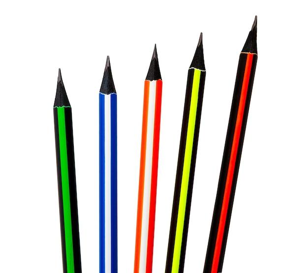 Crayon isolé sur fond blanc. crayon coloré.