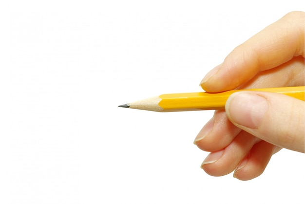 Crayon à la main