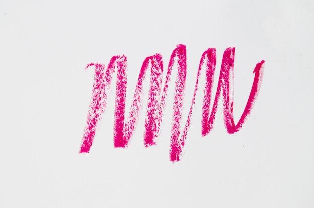 Crayon de maquillage ligne rouge, accident vasculaire cérébral, splash, sur fond blanc