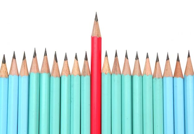 Crayon rouge, le concept du leader