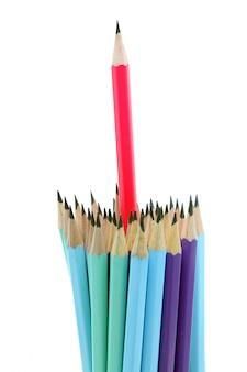 Crayon rouge, concept leader