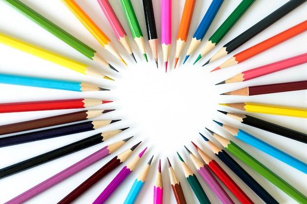 Crayons amoureux.