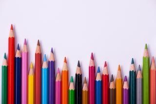 Crayons de couleur cadre
