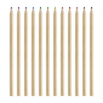 Crayons jeu de couleurs isolé sur fond blanc.