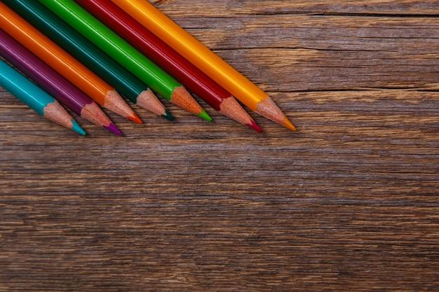 Crayons multicolores