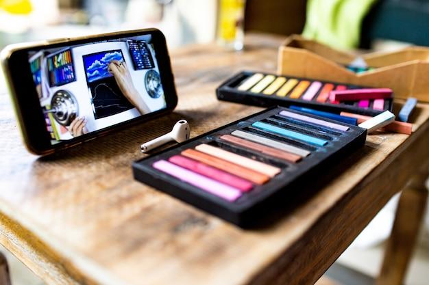 Crayons pastel. photo de haute qualité